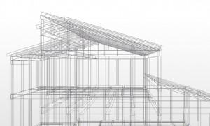 赤松邸構造ワイヤーフレーム