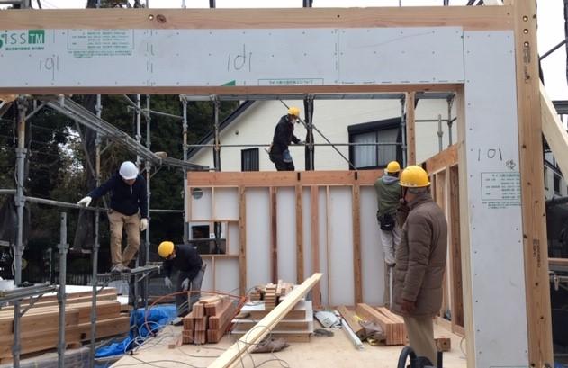 建方が進んでいます・川崎市二子の現場から