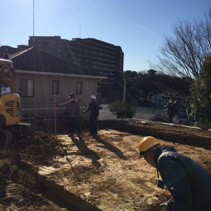 玉川学園の家、新築工事始まっています